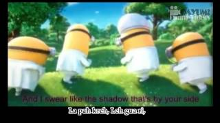 MINIONS - I Swear - Despicable Me 2 Movie (English Subtitles + Lyrics Version)