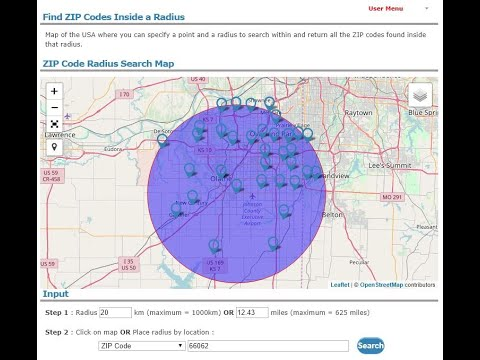 Find Zip Codes Inside Radius Zip Code Radius Map on zip code county maps, zip code area maps, zip code city maps,
