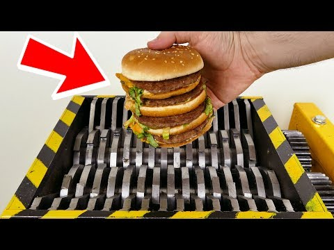 Thumbnail: SHREDDING WORLDS BIGGEST HAMBURGER!!! - EXPERIMENT AT HOME