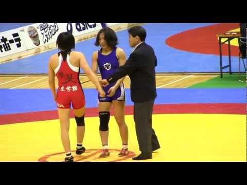 Wrestling 浜田千穂 × 坂上嘉津季 55Kg Jr.Q Cup2012-407