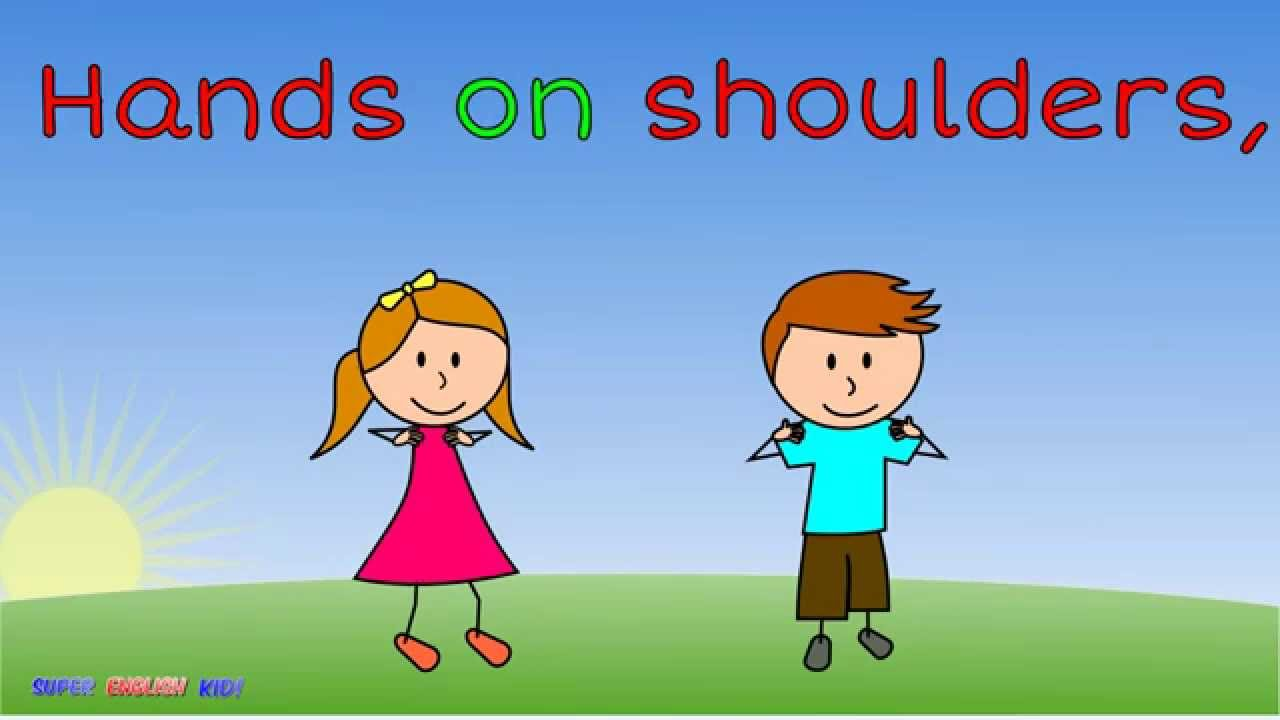 small resolution of Video - \The Body Parts Song and Dance for Kids! - Song with actions.\ -  Super English Kid