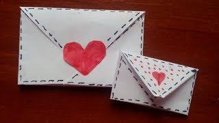 Как сделать конвертик для письма СВОИМИ РУКАМИ за 1МИНУТУ/Kate Taylor