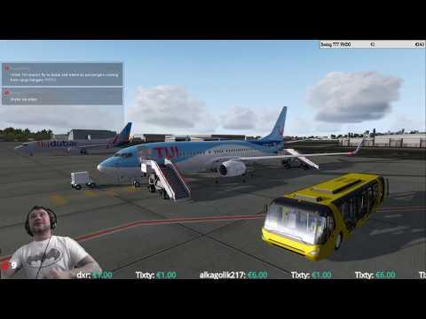 Prepar3d v4.1 in 2K Dubai Airport (OMDB) ⇒ Athens Airport VATSIM