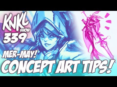 KNKL 339: Battling the BLANK CANVAS!! (REAL-TIME concept art tutorial!)