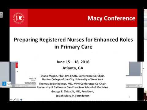 2016 10 26 Making the Case for Expanding and Enhancing Registered Nurses' Roles in Primary Car