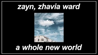 """A Whole New World (End Title) [From """"Aladdin""""] - ZAYN, Zhavia Ward (Lyrics)"""