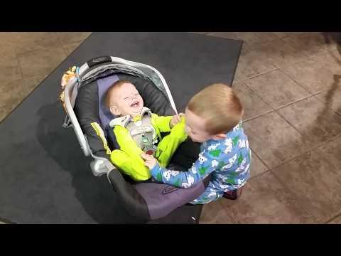 Tickle Fight at Hom Furniture!