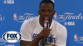 Draymond Green reacts after NBA Finals loss