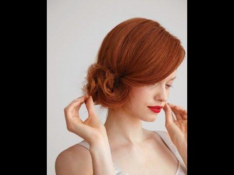 Вечерняя прическа на короткие волосы. Простая и быстрая прическа