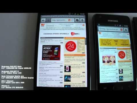 DISPLAY Samsung GALAXY Note Samsung GALAXY R Sony Ericsson Xperia arc HTC 7 Mozart iPhone 4