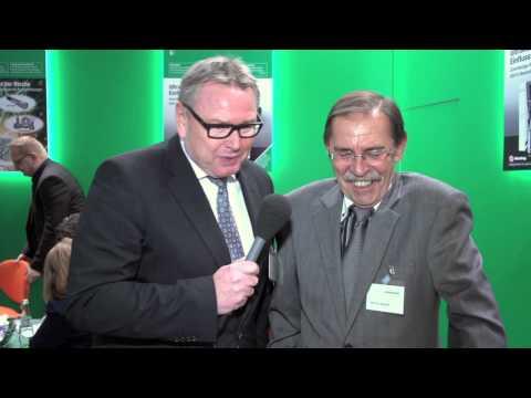 Das etwas andere Interview: R. Simon und W. Rappelt auf der productronica in München