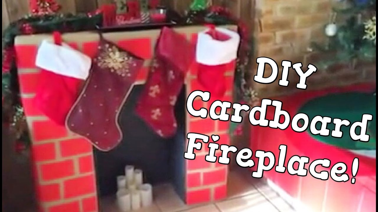 Diy cardboard fireplace christmas 2014 youtube solutioingenieria Choice Image
