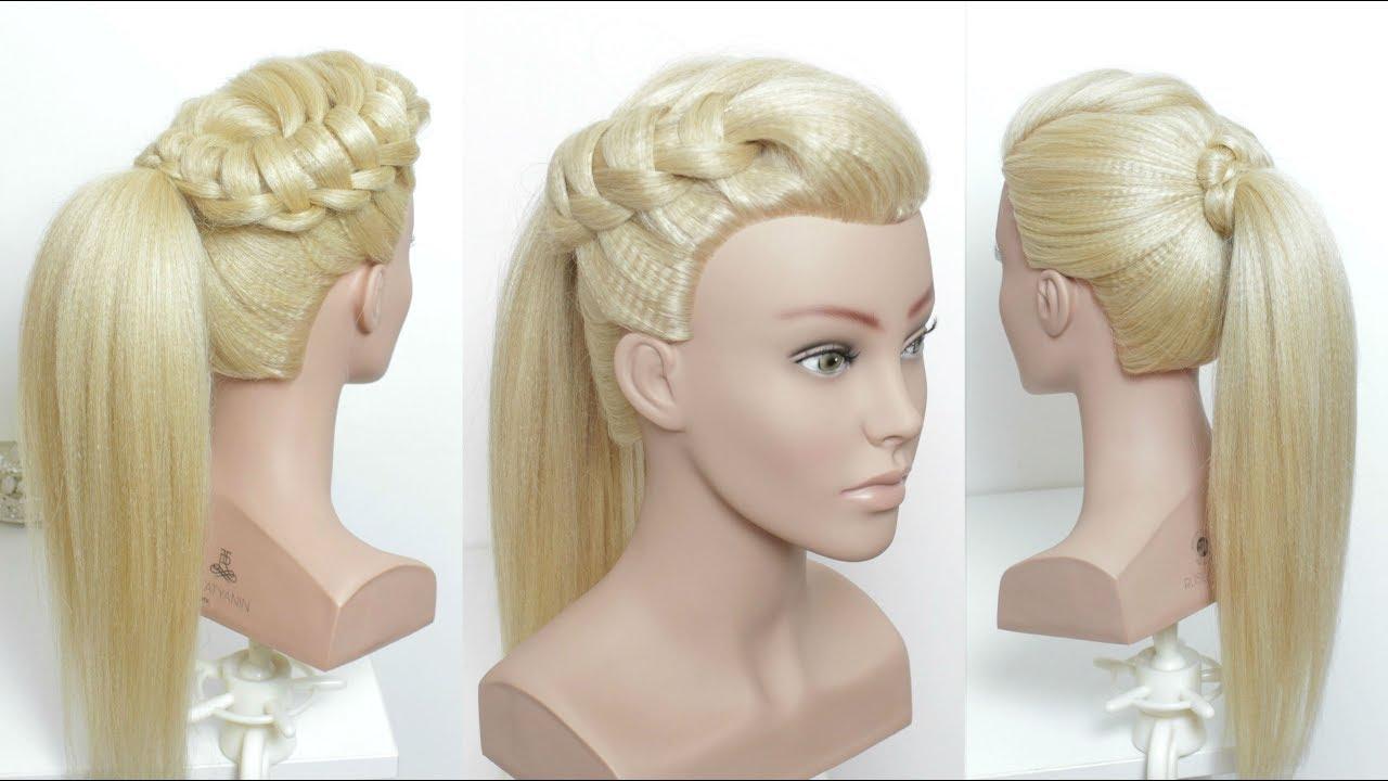 Prom Ponytail. Wedding Hair Tutorial - YouTube