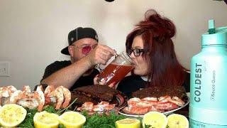 Smoked BBQ Ribs, King Crab Legs, Jumbo Shrimp And More With Big Daddy!! 💋