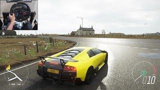 Lamborghini Murcielago SV - Forza Horizon 4 | Logitech g29 gameplay