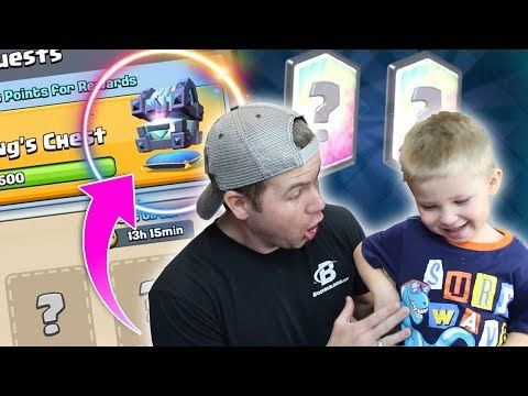 MY SON opens FIRST LEGENDARY KING'S Chest - FUNNY - Clash Royale - Insane