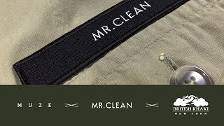 「MUZE」×「MR.CLEAN」×「BRITISH KHAKI」コラボムービー発表。