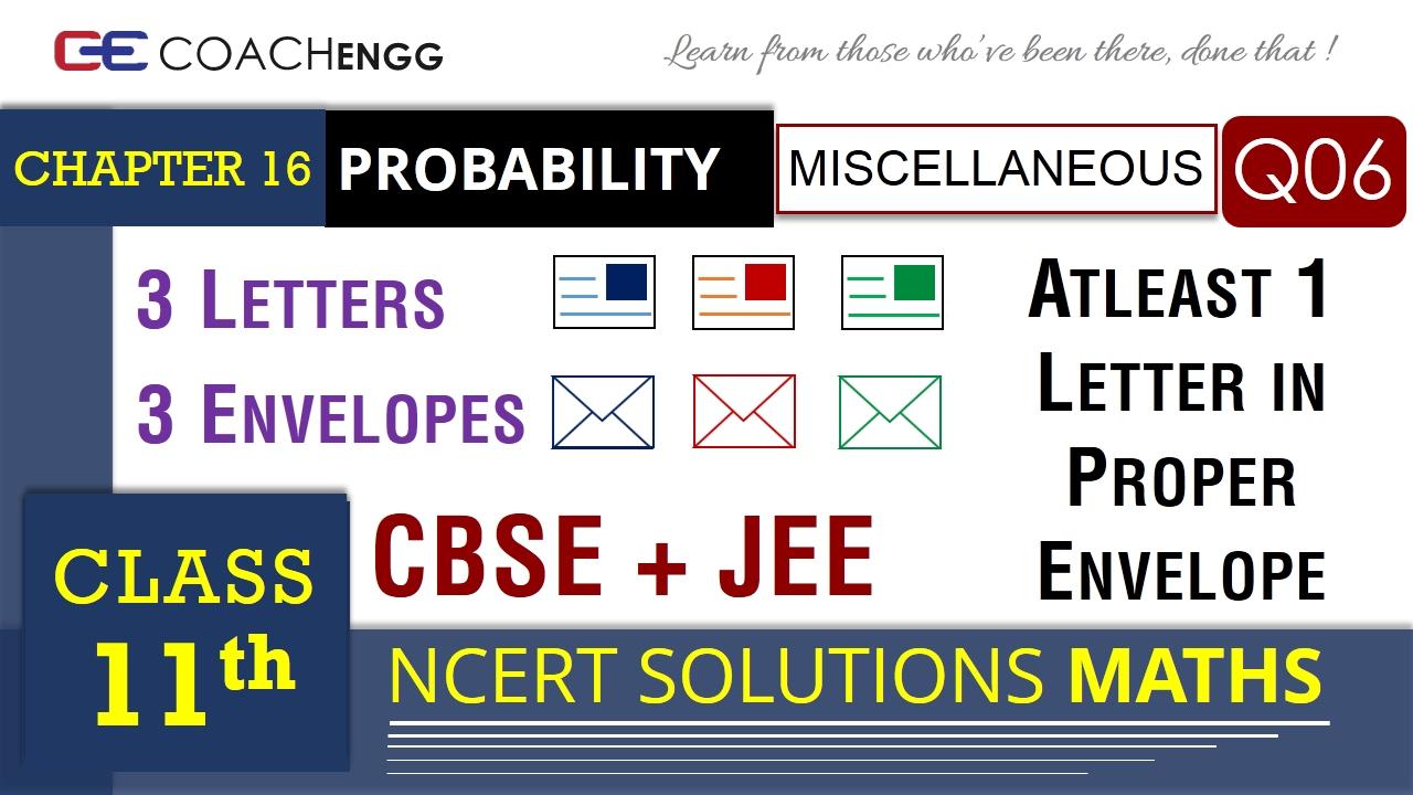 PROBABILITY Class 11 Miscellaneous Q6