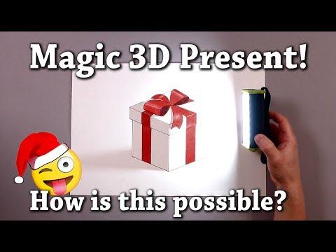 Magic Gift! 3D Drawing Illusion BRAIN TEST
