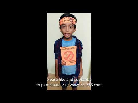 awareness on covid 19 virus by a small kid