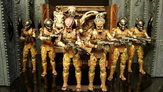 3x neca the predator emissary 2 action figure review comparison army building