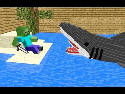 Monster School: Killing The Shark - Minecraft Animation Jaws Movie