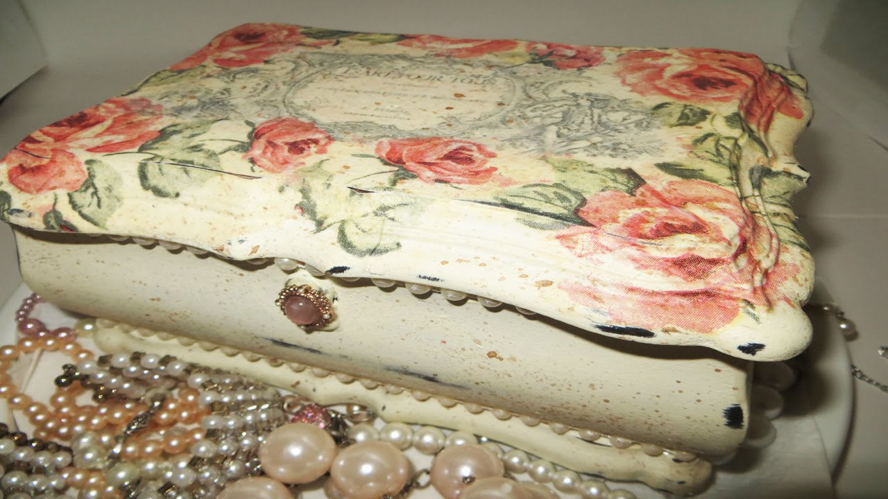 DIY Decoupage Jewelry Box Annie Sloan Upcycle YouTube