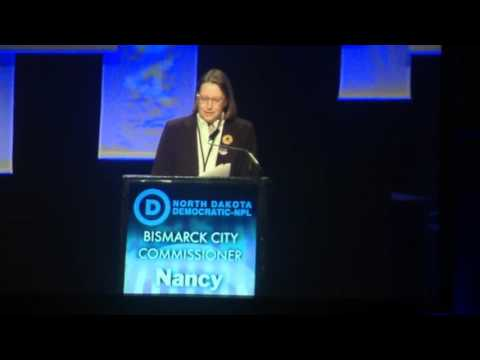 Nancy Guy at the North Dakota Democratic-NPL convention