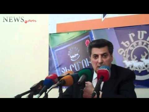Chairman Stepan Demirchyan of the People's Party of Armenia press conference