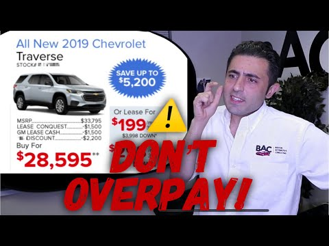 '19 CHEVY TRAVERSE Lease/Purchase Tips And Tricks. WATCH Before You Buy! (MA Car Broker)