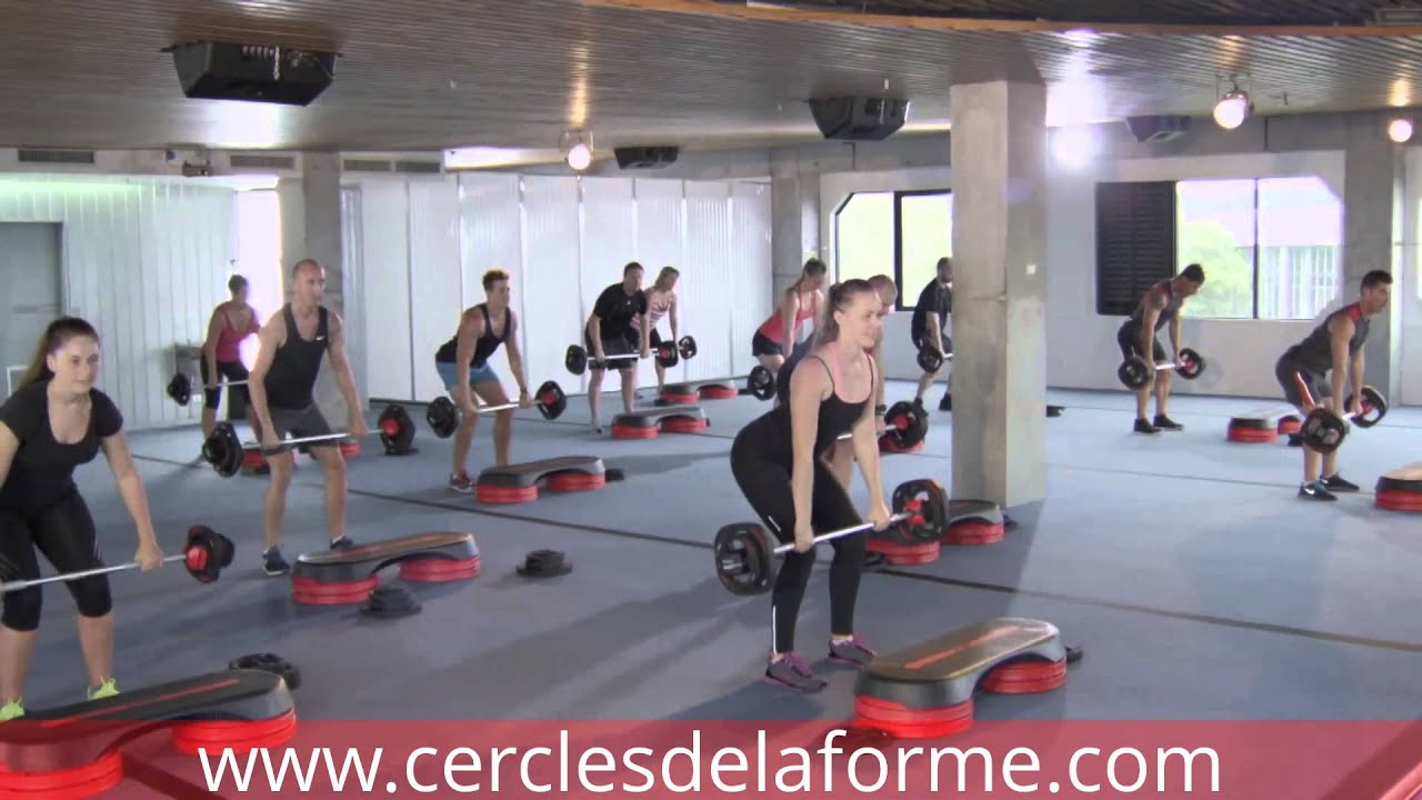 cours de body pump aux cercles de la forme paris youtube. Black Bedroom Furniture Sets. Home Design Ideas
