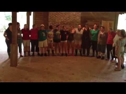 """Linger""closing campfire song at the campfire at Camp Low Country"