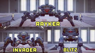 """War Robots: Rayker, Blitz & Invader Gameplay 