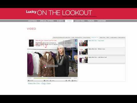Clikthrough partnership with Lucky Magazine