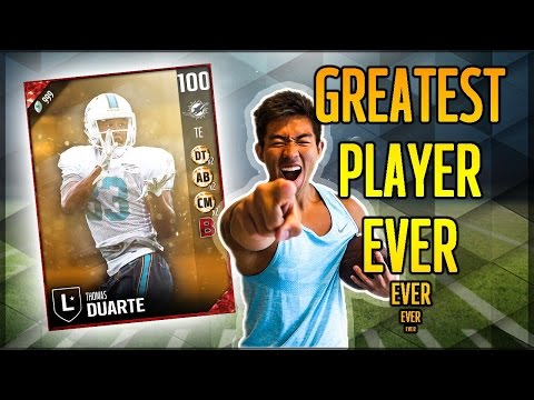BEST PLAYER IN THE HISTORY OF MADDEN! DUARTE THE GOAT! (SPOOF) MADDEN ULTIMATE TEAM 17