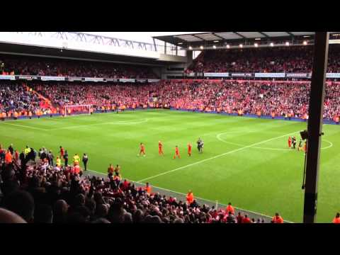 "Anfield roars ""We're gonna win the League!"""