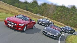 Porsche 911, BMW 650i, Mercedes SL 500, Jaguar XKR