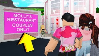 This Restaurant Was COUPLES ONLY.. But The Owner Tried To BREAK US Up! (Roblox)