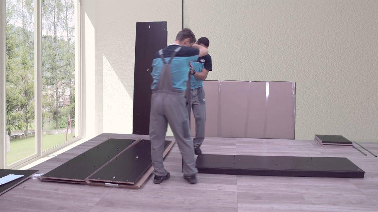 Berlin Mirror Sliding Wardrobe Assembly Instruction Youtube