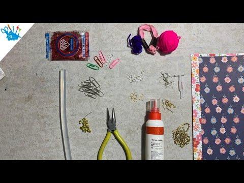 DIY U Clip Handmade Earrings   Paper Clip Earrings   Paper Clip Craft   Creative