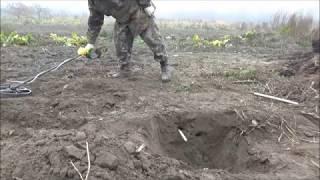 тест в земле самодельной катушки а ля нел торнадо. часть 1