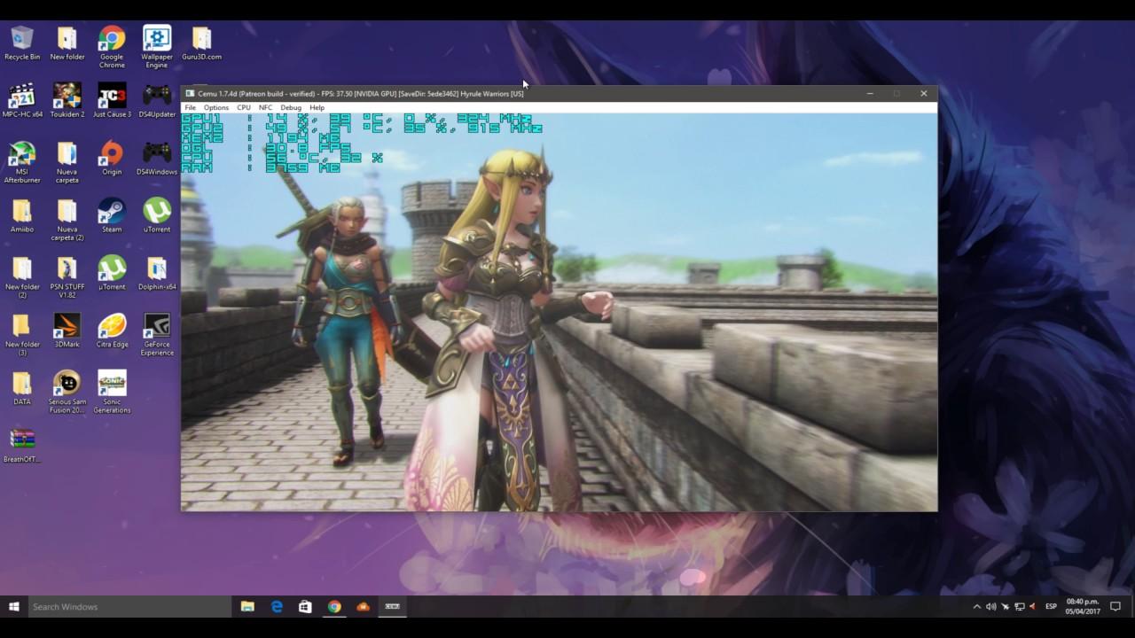 Cemu 1 7 4d Hyrule Warriors Youtube