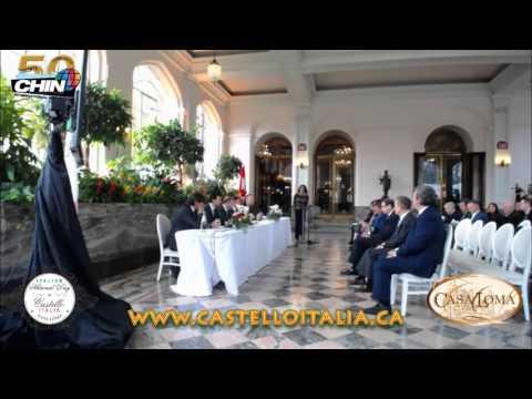 Castello Italia 2016 Press Conference at Casa Loma
