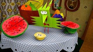 Бумажки - Зимой и летом - мультфильм для детей - поделки своими руками