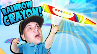 BABY CREATES THE ULTIMATE MAGIC RAINBOW CRAYON OF GLORY! | Baby Hands VR Gameplay (HTC Vive)