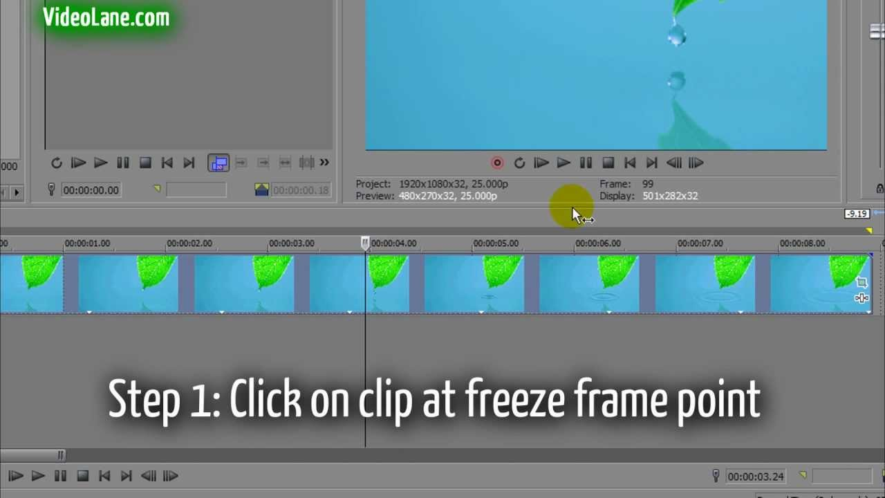 How To Freeze The Last Frame In Sony Vegas Pro