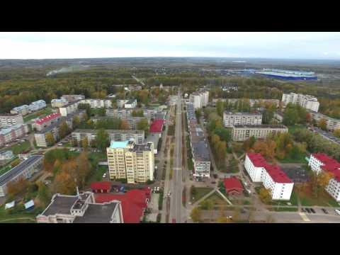 Аэросъемка в Волгореченске. Полет через весь город. Осень 2016.