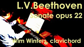 Wim Winters plays BEETHOVEN sonata opus 22 on clavichord