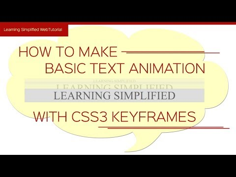 CSS3 animation tutorial-simple text animation in css thumbnail