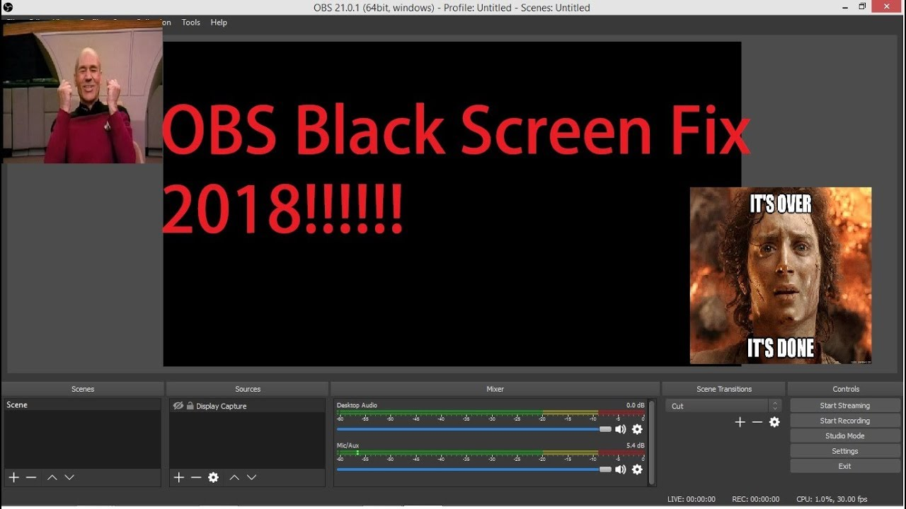OBS Black Screen Fix 2018!!!!!!!! NEW!